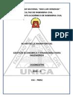 SILABO DE Gestio Economica y Financiera para Ingenieros