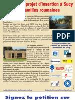 Information Sur Le Projet d'Insertion Des Roms de Sucy