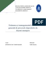 Estimarea Si Managementul Riscului