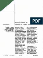 Rudolf Ornstein- Aspectos atuais do método de custeio direto.