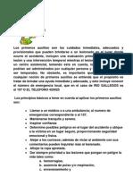 1. PRIMEROS AUXILIOS
