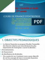 Finance d'entreprise -Chapitre 1