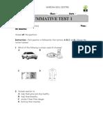 Summative Test 1YEAR 4