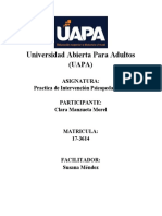 Practica de Intervención Psicopedagógica (TAREA VI)