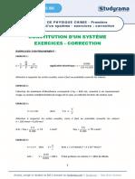 Fiche de Revision Physique Chimie 2021 Premiere Constitution d Un Systeme Exercices Correction