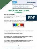 Fiche de Revision Physique Chimie 2021 Premiere Constitution d Un Systeme Exercices