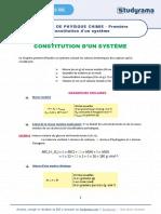 Fiche de Revision Physique Chimie 2021 Premiere Constitution d Un Systeme