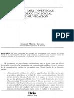 MARTIN SERRANO_diseños Para La Investigacion Social de La Comunicacion