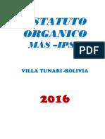 OFICIAL ESTATUTO MOVIMIENTO AL SOCIALISMO  OFICIAL DE LA DIRECCION DEPARATMETAL DEL MAS-ISPS
