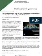 11-03-18 FDIC Demands $900 Million in Lawsuit Against Former WaMu Executives - Latimes