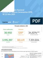Información epidemiológica junio 2021
