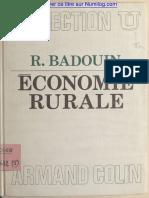 économie rurale