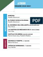 Novedades Astiberri Julio 2021