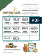 Summer Meals Location Flyer