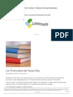 Los 14 Principios Del Toyota Way - LEANROOTS