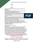 I Seminario Taller sobre Perfil del Docente y Estrategias de Formación