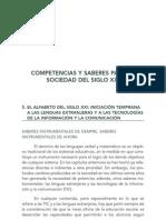 COMPETENCIAS Y SABERES PARA LA EDUCACION DEL SIGLO XXI