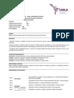 Plano de Ensino - Literatura da comarca caribenha / 2016-2 - Cristiane Checchia