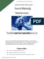 Chord Melody Masterclass Presentazione - Guitar Mindfulness