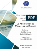 Rapport de PFE ( MicroCrédit Au Maroc - Cas ALAmana )