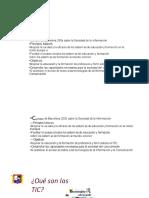 PDF Tecnologias de La Informacion y Comunicacionppt