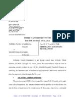 Kenneth Manzanares Sentencing Memo Defense