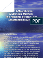 Mearsheimer. The Maritime Strategy and Deterrence in Europe