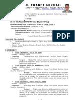 Mikhail Thabet's Resume