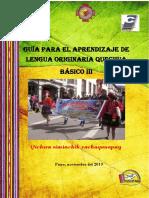 3QUECHUA MODULO BASICO  III