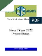 North Adams FY2022 Budget Proposal