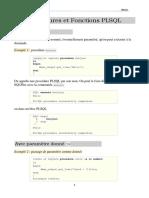 Chap3 Procédures et Fonctions PLSQL