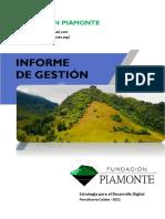 INFORME DE GESTION FUNDACION PIAMONTE