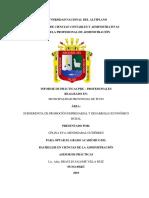 Informe de Practicas Pre-profesionales Subgerencia de Promocion Empresarail y Desarrrollo Economico Rural Mnp (1)