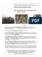 TOWARDS ZERO WASTE 2020 A Waste Strategy for Bath & North East Somerset 2005 – 2010