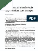 A estrutura da transferência na análise com crianças