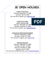 COLLEGE OPEN HOUSES 08-09
