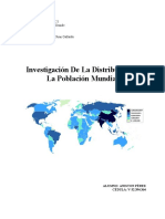 Investigación de La Distribución de La Población Mundial