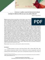 O lobby dos grupos de interesse e a política comercial internacional do Brasil