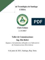 Taller de Comunicaciones 1 - Equipamiento