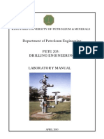 Drilling Engineering Laboratory Manual (King Fahd University)