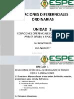 1.3 y 1.4 ED de 1er Orden-campo de Direcciones