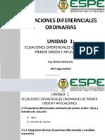 1.5 EDO de 1er orden 1.5.1 Integración directa - variables separables