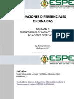 4.7Resolución de sistemas de ED mediante Laplace