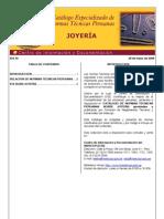Normas Técnicas Peruanas - Joyería