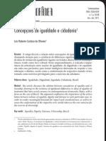 [OLIVERIRA, L. R. C.] Concepções de Igualdade e Cidadania
