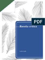 Reseña critica