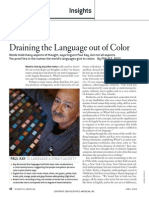 Draining Color out of Languge