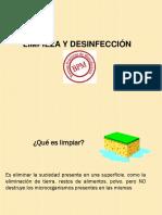 3.- Limpieza y Desinfección