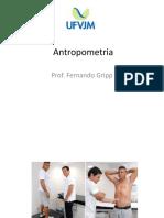 Avaliação da  antropometria e composição corporal