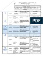 Cuarto Bachillerato Dosificación 2021 Tercera Unidad